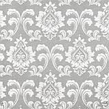 Декоративна тканина вензель сірий з тефлоновим просоченням Туреччина 87840v5, фото 2