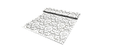 Декоративна тканина вензель сірий з тефлоновим просоченням Туреччина 87840v5, фото 6