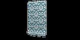 Декоративная ткань вензель бирюзовый с тефлоновой пропиткой Турция 87839v1, фото 4