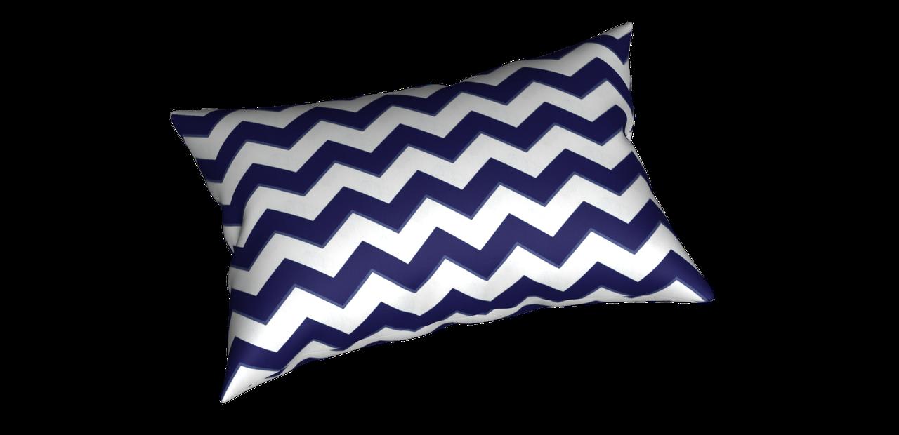Декоративна тканина в біло-синій зигзаг Туреччина 85734v108