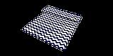 Декоративна тканина в біло-синій зигзаг Туреччина 85734v108, фото 4