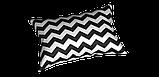Декоративна тканина в біло-чорний зигзаг 180см 85732v106, фото 3