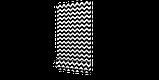 Декоративна тканина в біло-чорний зигзаг 180см 85732v106, фото 5