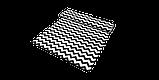 Декоративна тканина в біло-чорний зигзаг 180см 85732v106, фото 6