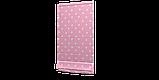 Декоративна тканина з білими зірками на рожевому тлі 180см 85704v6, фото 3