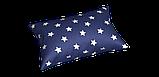 Декоративная ткань с белыми звездами на синем фоне 180см 85706v102, фото 3