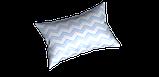 Декоративная ткань в бело-голубой зигзаг Турция 85711v19, фото 3