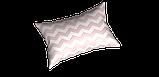 Декоративная ткань в бело-розовый зигзаг Турция 85710v18, фото 3