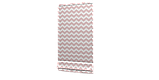 Декоративная ткань в бело-розовый зигзаг Турция 85710v18, фото 5