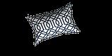 Декоративна тканина синій візерунок на білосніжному тлі Іспанія 280см 84666v1, фото 3