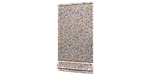 Декоративная ткань бежевый цветочный узор с птицами на сиреневом фоне 280см 84660v3, фото 5