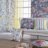 Декоративная ткань с крупными разноцветными ромбами в размытом исполнении Испания 84644v1, фото 3