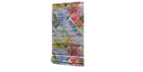 Декоративная ткань с крупными разноцветными ромбами в размытом исполнении Испания 84644v1, фото 6