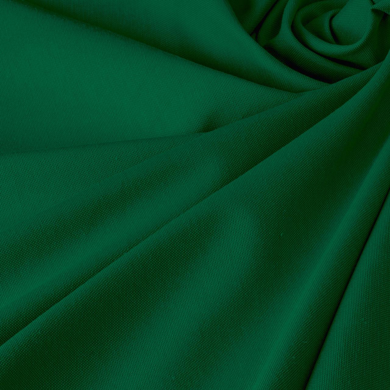 Однотонна декоративна тканина зеленого кольору з тефлоновим просоченням DRY-84601