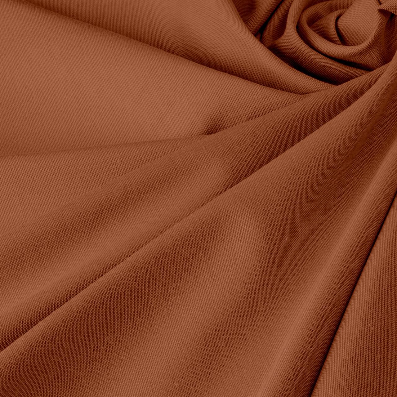 Однотонна декоративна тканина коричневого кольору Туреччина DRK-84597