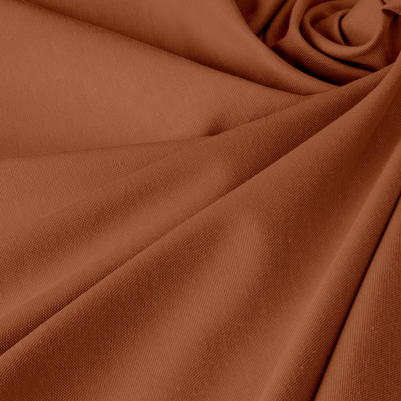 Однотонная декоративная ткань коричневого цвета Турция DRK-84597