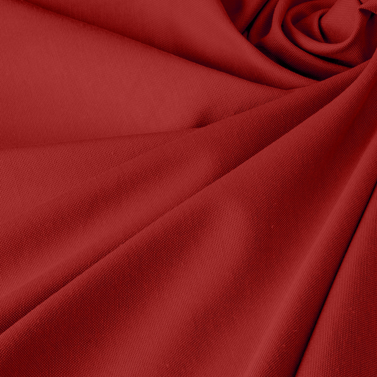 Однотонна декоративна тканина червоного кольору з тефлоном DRK-84598