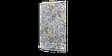 Вулична тканина з великими голубувато-зеленим листям на бежевому фоні Іспанія 84639v4, фото 6