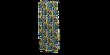 Вулична тканина з великими жовтими листям і рожевими бутонами на синьому 160см 84640v3, фото 4
