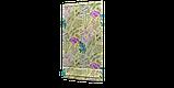 Уличная ткань с крупными желтыми листьями и розовыми бутонами 160см 84638v2, фото 6