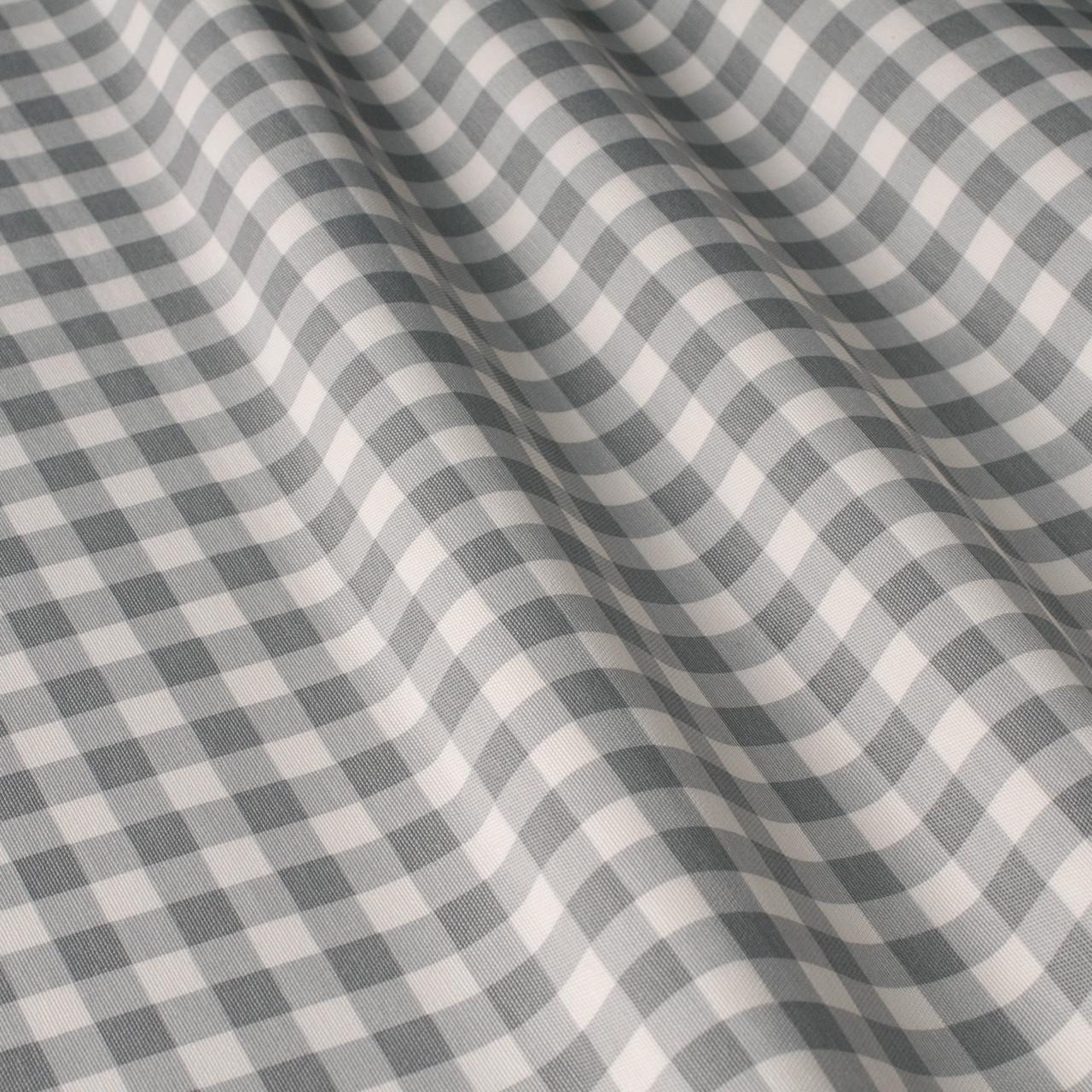 Декоративная ткань в мелкую клетку бело-серого цвета Турция 84582v36