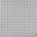 Декоративная ткань в мелкую клетку бело-серого цвета Турция 84582v36, фото 2