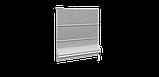 Декоративная ткань в мелкую клетку бело-серого цвета Турция 84582v36, фото 4