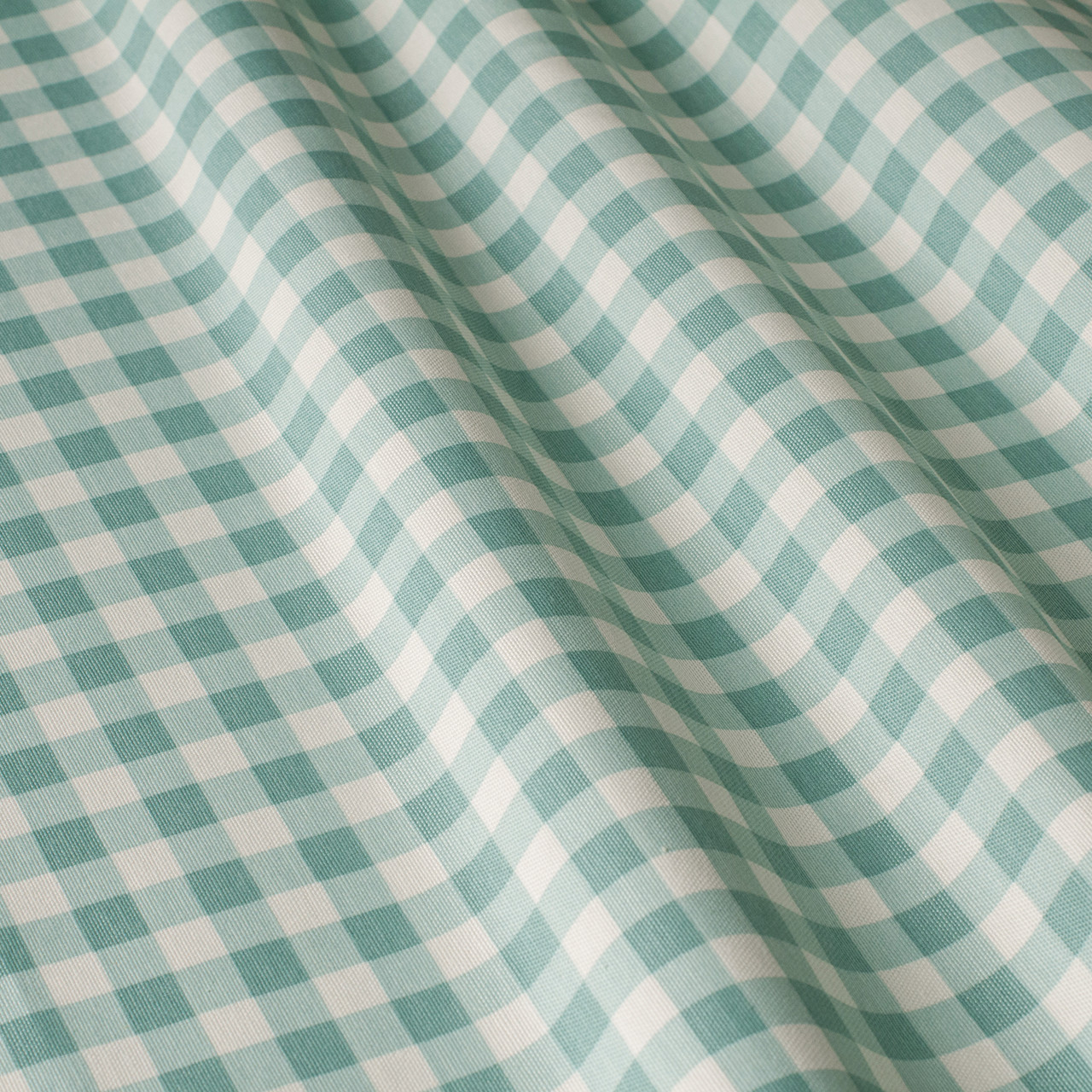 Декоративная ткань в мелкую клетку бело-зеленого цвета 180 см 84579v33