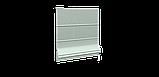 Декоративная ткань в мелкую клетку бело-зеленого цвета 180 см 84579v33, фото 4