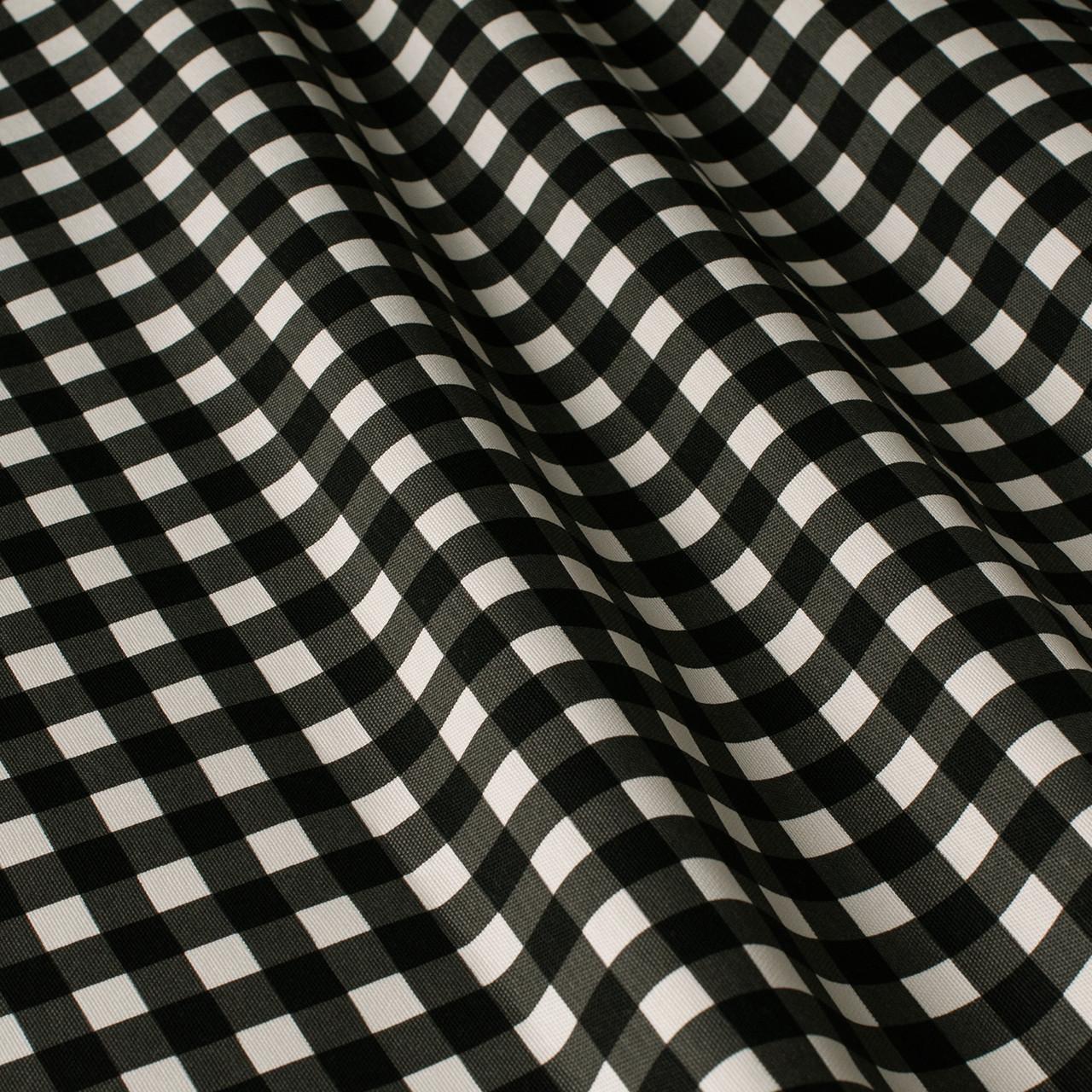 Декоративная ткань в мелкую клетку черно-белая Турция 180 см 84577v31