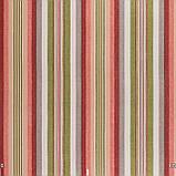 Декоративная ткань в полоску розово-зеленого цвета 180 см 84610v6, фото 2