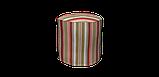 Декоративная ткань в полоску розово-зеленого цвета 180 см 84610v6, фото 7