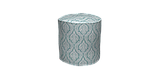 Декоративная ткань белые узоры на голубом фоне Турция 84586v7, фото 5