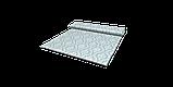 Декоративная ткань белые узоры на голубом фоне Турция 84586v7, фото 7