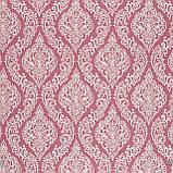 Декоративна тканина білі візерунки на рожевому тлі Туреччина 84584v4, фото 2