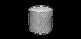 Декоративна тканина білі візерунки на сірому тлі Туреччина 84583v3, фото 5