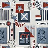 Декоративная ткань с тефлоновой пропиткой морская тематика 84576v3, фото 2