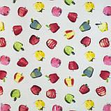 Декоративна тканина різнокольорові яблука 180см Туреччина 84518v8, фото 2