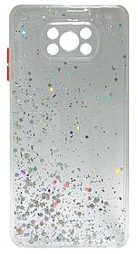 Силікон Xiaomi POCO X3/POCO X3 Pro clear/silver Confetti