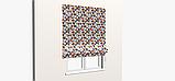 Декоративная ткань с серо-бежевой мозаикой 180см 84484v1, фото 4