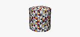 Декоративная ткань с серо-бежевой мозаикой 180см 84484v1, фото 7