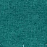 Декоративна однотонна рогожка бірюзового кольору 300см 84462v19, фото 2