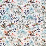 Декоративная ткань с цветами бирюзового и кораллого цвета Испания 84383v1, фото 2