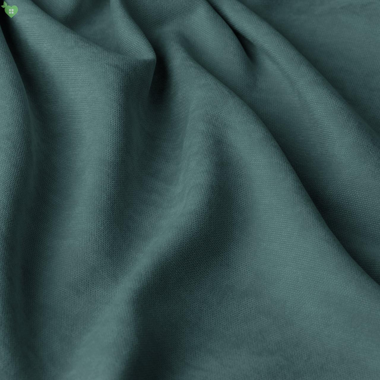 Однотонная декоративная ткань велюр синий Турция 84364v18