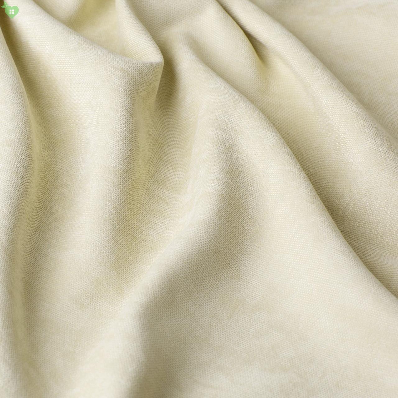 Однотонна декоративна тканина велюр молочний 84348v1