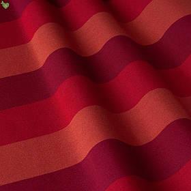 Вулична декоративна тканина смуга червоного фіолетового і помаранчевого кольору 84339v3