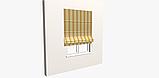 Вулична декоративна тканина смуга коричнева бежева і жовта 84337v1, фото 3