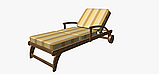 Вулична декоративна тканина смуга коричнева бежева і жовта 84337v1, фото 7