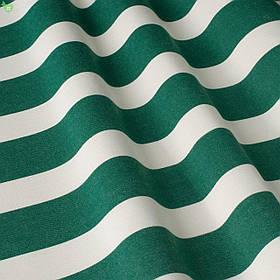 Вулична декоративна тканина в смужку білого і зеленого кольору 84336v8