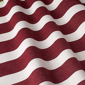 Вулична декоративна тканина смуга біла і червона 84335v7
